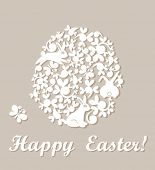 stock photo of applique  - Easter applique - JPG