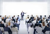 stock photo of speaker  - Business Conference and Presentation - JPG