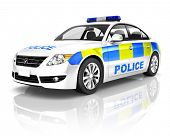 stock photo of generic  - 3d Generic Police Car - JPG