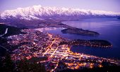 picture of snow queen  - Aerial View of Queenstown with City Lights - JPG
