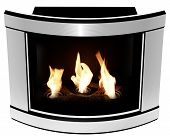 Bio Fireplace steel convex frame