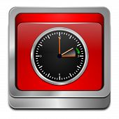 picture of daylight saving time  - decorative red daylight saving time button 3d - JPG