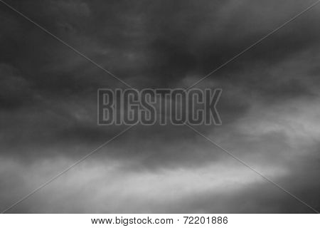 Stormy Clouds Over Horizon