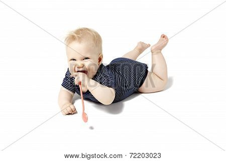 Baby Playing With Spoons