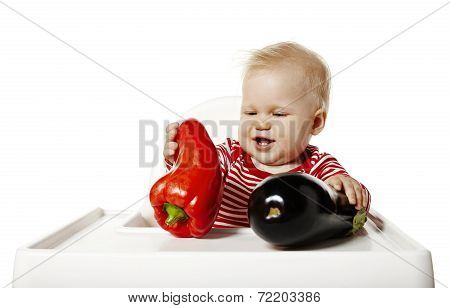 Baby Watches Vegetables