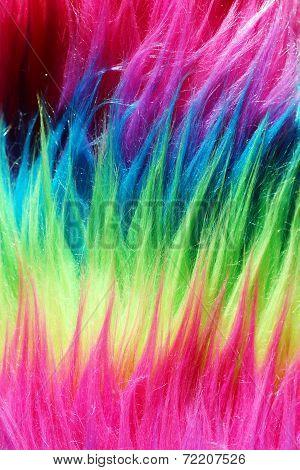 Neon Color Faux Fur Background Vertical 2
