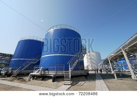 Russia, Nadym - June 6, 2011: corporation Gazprom In Novy Urengoy, Yanao, June 6, 2011 In Nadym, Rus