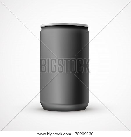 Blank Black Aluminum Can Template