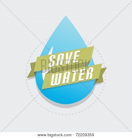 Save water icon vector