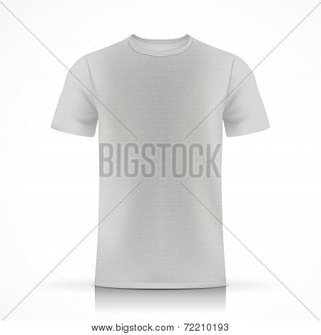 Grey  T-shirt Template