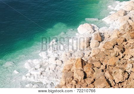 View Of Dead Sea Coastline