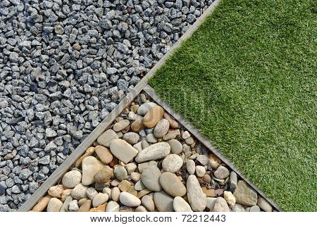 Combinations Of Grass And Stones