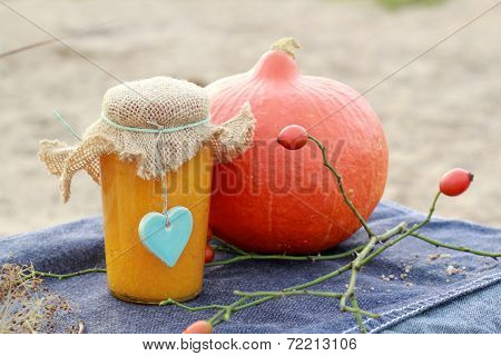 Pumpkin Jam in a jar