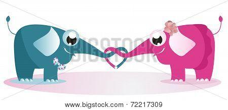 Elephants Fall In Love