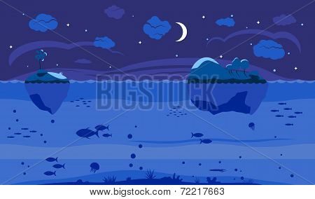 Night Sea Game Background