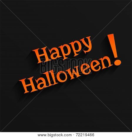 Halloween Hand lettering Greeting Card