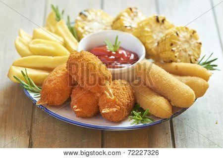 Fast food plate