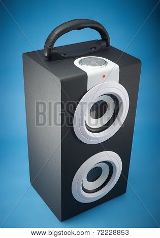 Portable music loudspeaker