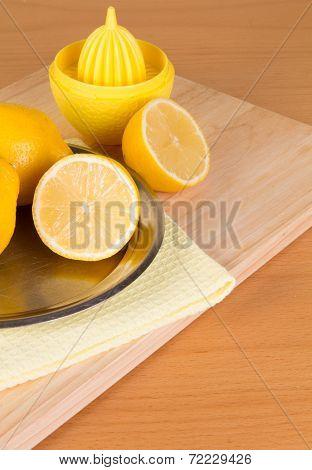 Some Lemons On A Plate