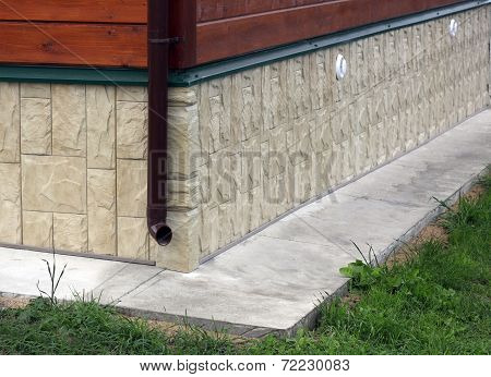 Cottage Foundation, Faced By Artificial Stone