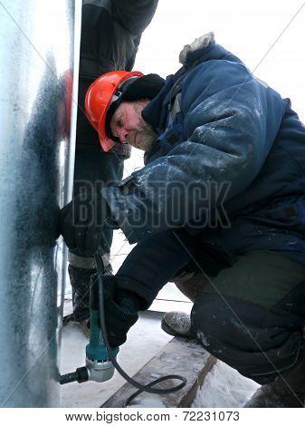 Russia, Nadym - November 23, 2012: ?orporation Gazprom In Novy Urengoy, Yanao,  In Nadym, Russia - N