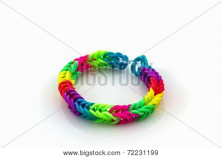 Colorful Of Elastic Bands.