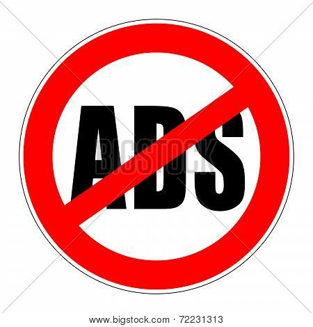 Prohibition Sign No Ads