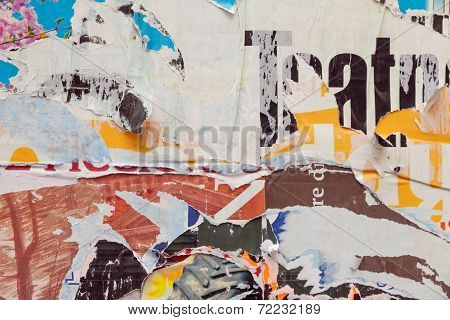 Grunge Ripped Poster