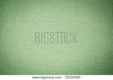 Green Sackcloth Textured Background