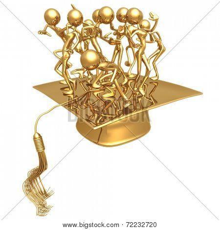 Golden Grads Dance Party Celebration Graduation Concept