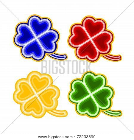 Christmas Trimmings Four-leaf-clover  Faience Vector