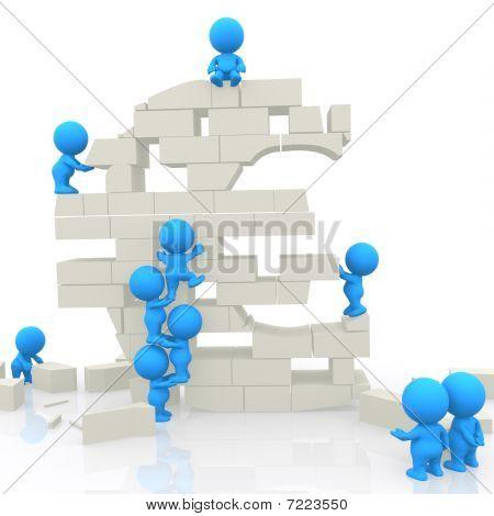 3D Men Assembling Block Euro