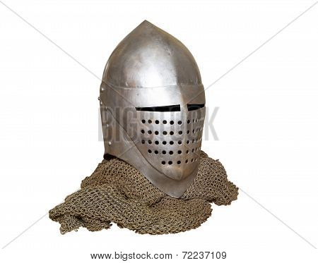 Knight's Helmet And Chainmail