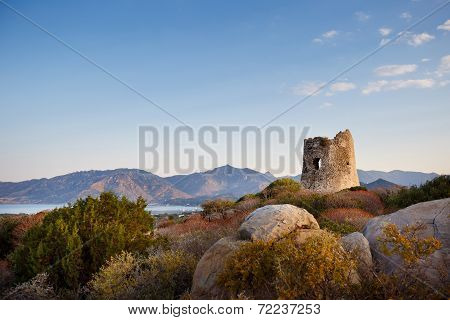 Coastal Tower in Villasimius, Sardinia