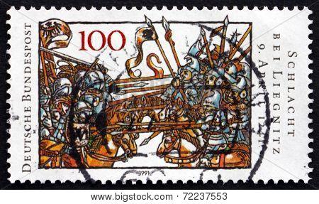 Postage Stamp Germany 1991 Battle Of Legnica