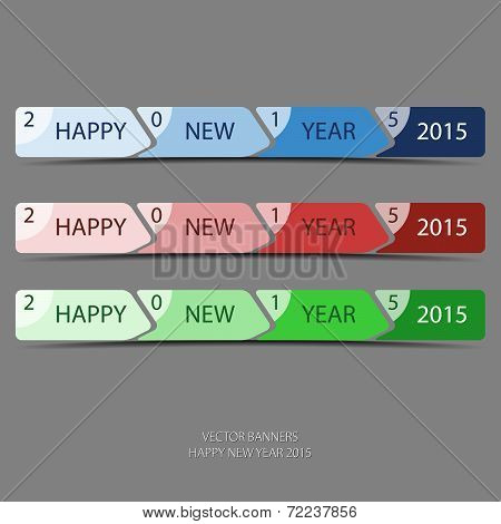 Progress Bar With Greeting Happy New Year 2015