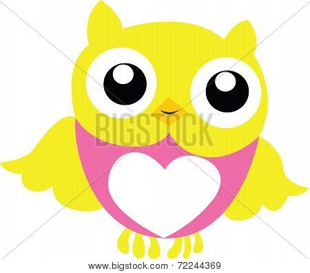 Yellow And Pink Owl