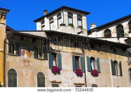 Old Buildings - Piazza Delle Erbe - Verona