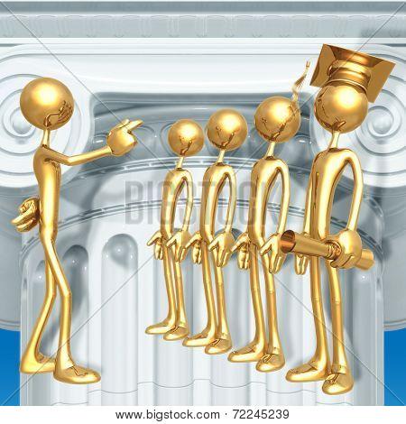 Golden Grad Selected Graduation Concept