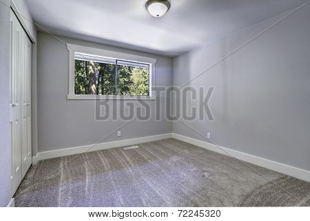 Light Blue Empty Room With Window