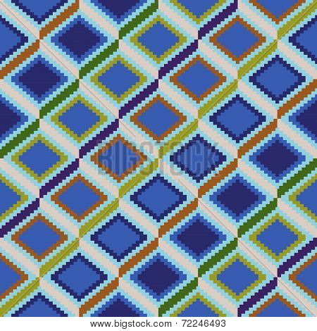 Seamless Pattern With Rhombic Elements