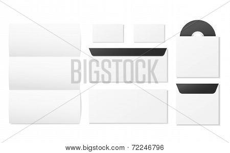 Blank Corporate Identity Stationery Set