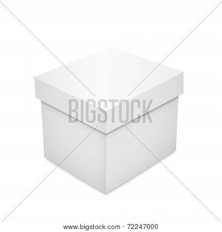 White Blank Paper Box