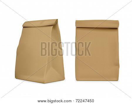 Blank Paper Bag Set