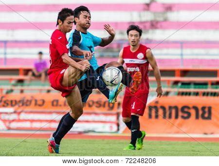 Sisaket Thailand-september 17: Piyawat Thongman Of Sisaket Fc. In Action During Unofficial Friendly