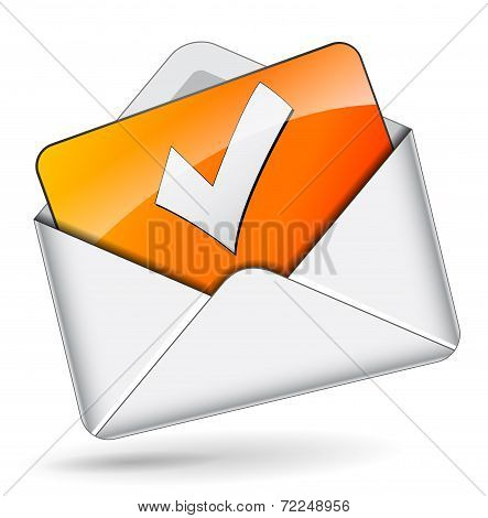 Checkmark Mail Concept