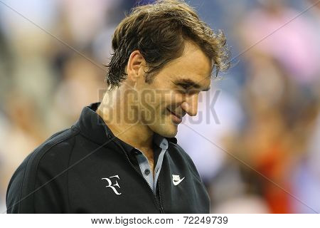 Seventeen times Grand Slam champion Roger Federer after quarterfinal match at US Open 2014