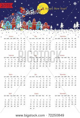 Happy New year 2015  European calendar