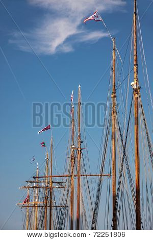 Masts Of Large Sailing Ships