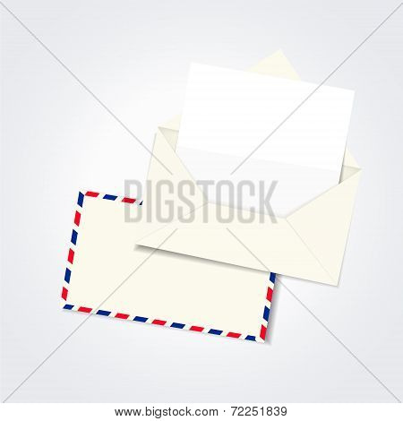 Blank Envelope And Letter Template
